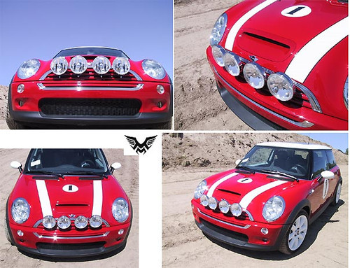 MINI Cooper 4 lamp rally light kit
