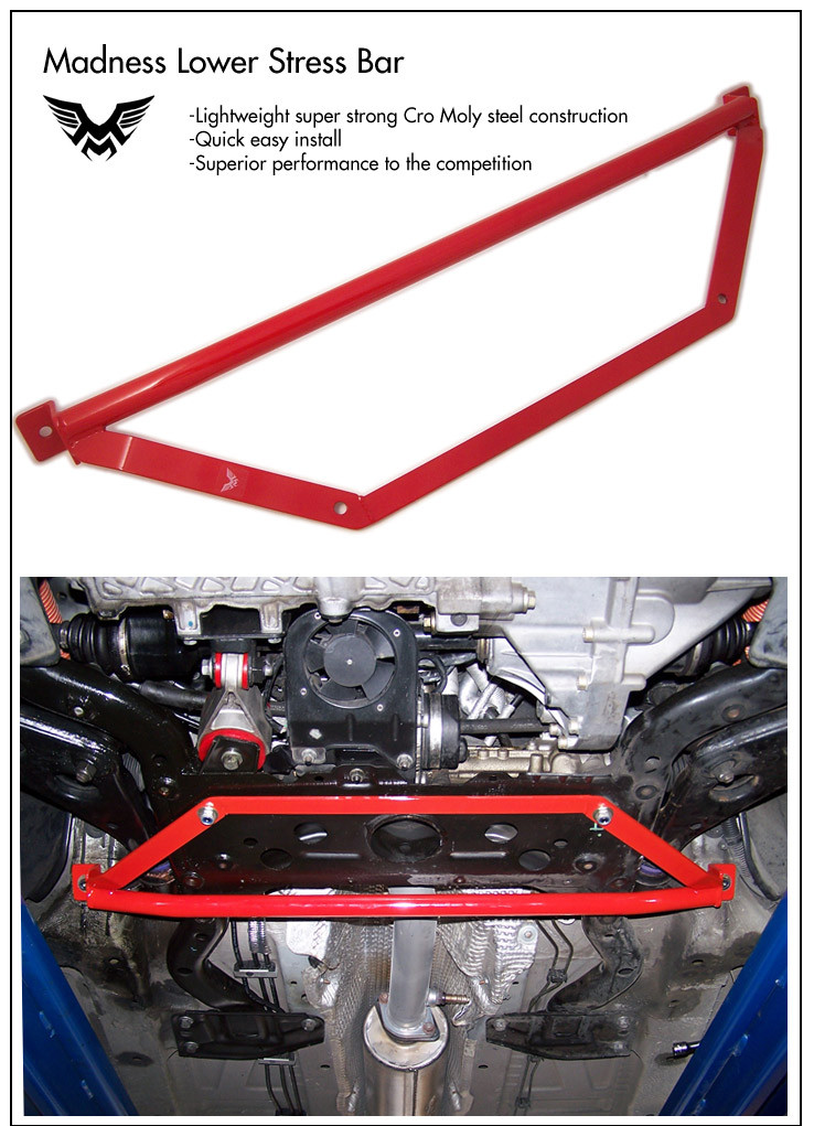 Madness Lower Stress Brace for the MINI Cooper S