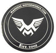 Madness Motorworks round window sticker