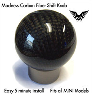 Madness Carbon Fiber Shift Knob for MINI Cooper