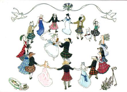 Tartan Wedding Scottie/Westie Card