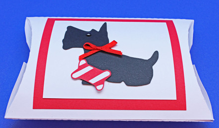 Pillow Gift Card Holder with Scottie