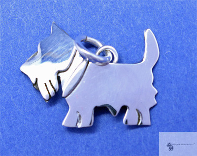 Sterling Scottie Charm