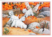 Four Westies Card