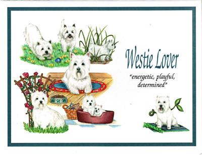 Westie Lover Card