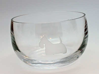 Clear Glass Scottie Bowl
