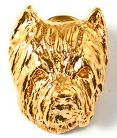 Westie Sterling Pin with Gold Wash