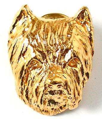 Westie Gold Face Necklace