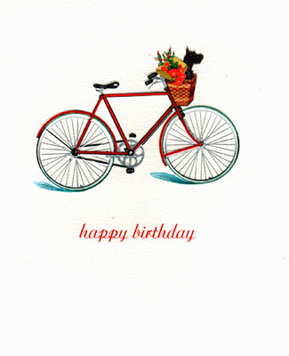Scottie Bicycle Birthday Card