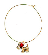 Gold Bracelet with Scottie Charm