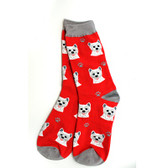 Westie Red Socks
