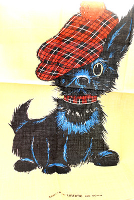 Tea Towel Scottie