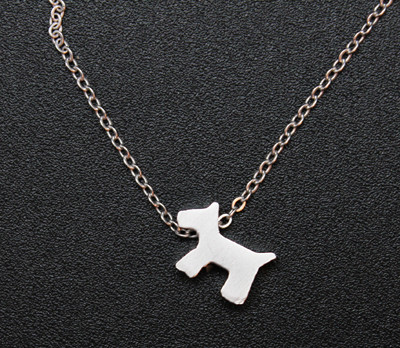 Silver Scottie Necklace