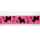 Scottie Pink Satin Ribbon