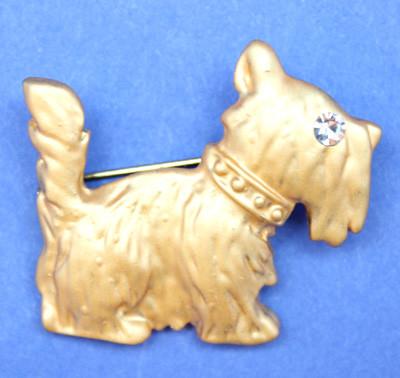 Gold Scottie Pin