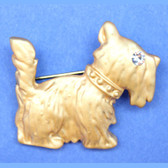 Gold Scottie Pin