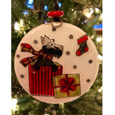 Scottie Glass Ornament