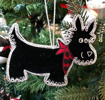 Scottie Fair Trade Ornament