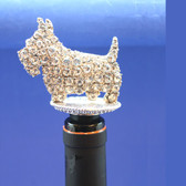 Crystal Scottie Bottle Stopper