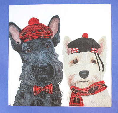 Scottie/Westie Luncheon Napkins