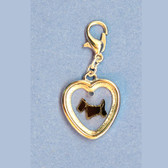 Scottie Heart Charm