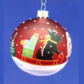 Hand Painted Scottie Ornament