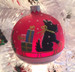 Scottie Ornament on a Lighted Tree