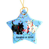 Black and Wheaten Scottie Ornament