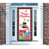 Interior Scottie Christmas Door Cover