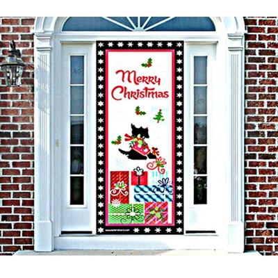 Interior Scottie Christmas Door Cover