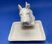Scottie Butter Dish - face view