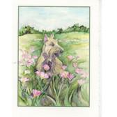 """""""Louisiana Girl"""" wheaten Scottie Card"""