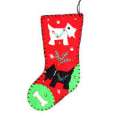 Felt Scottie Stocking