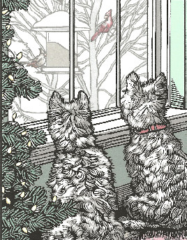Westie and Cardinals Card