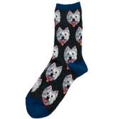 Charcoal Westie Socks