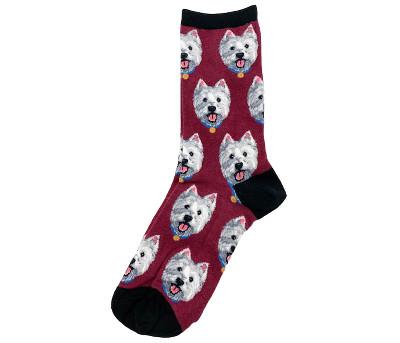 Red Westie Socks
