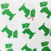 Green Scotties Fabric