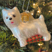 Westie Blown Glass Ornament
