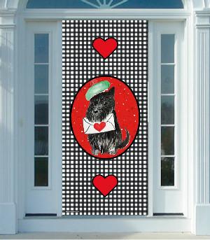 Scottie Valentine Door Cover