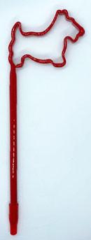 Red Scottie Shaped Pen