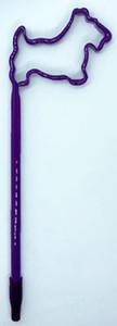 Purple Scottie Shaped Pen
