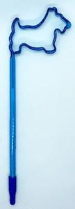 Turquoise Scottie Shaped Pen