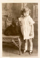 Scottie and Little Girl Card