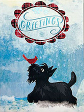 Scottie Boxed Christmas Card