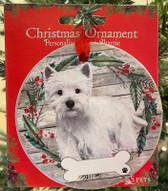 Westie ceramic Ornament