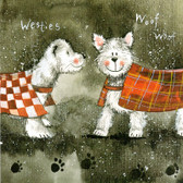 """Comparing Coats"" Westie Card"