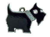 Black Scottie Charm