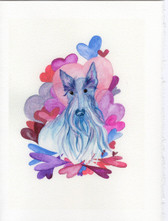"""The Color of Valentines"" Scottie Card"