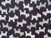 """Whiskers and Tails"" Scottie Fabric in Black"