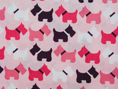 """Urban Zoologie"" Pink Scottie Fabric"